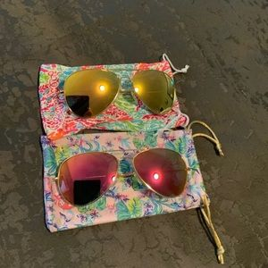 2 pair of Lilly sunglasses never worn